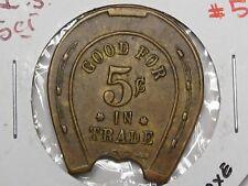 US Trade Token: Horseshoe Token I.S. G/F 5¢.  #52