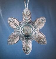 New Mill Hill Beaded Opal Ice Snowflake Ornament Kit Needlepoint