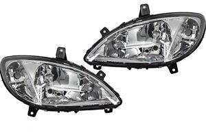 *NEW* HEADLIGHT HEAD LIGHT LAMP for MERCEDES BENZ VITO W639 4/2004 -2/2011 PAIR