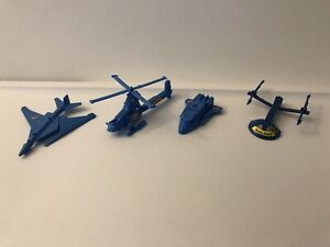 Kellogg's Starbot Blue Set Jet Helicopter Shuttle Space Ship 1985 Transformers