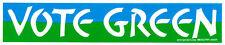 Vote Green - Environmental Bumper Sticker / Decal