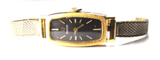 Vintage 14k Solid Gold Omega 485 Manual Wind AA5346 Black Dial Wristwatch 14mm