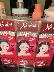 XX-White HALFCAST OIL EXTREME WHITENING OIL * 7 DAYS SUPER RESULTS X2 BOXES 60ML