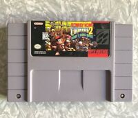 SNES Donkey Country 2: Diddy's Kong Quest Super Nintendo Cartridge Clean! TESTED