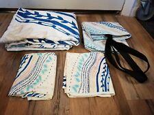 Deny Design Rosebudstudio Lovely Soul Floral Blue F/Q Duvet Cover Sham Set New