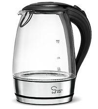 Electric Kettle Cordless Glass Boiler Tea Coffee Hot Water Warm Pot 1.7 Liter