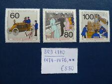 BRD 1990, Wohlfahrt: Geschichte der Post und Telekommunikation, Mi 1474-1476, **