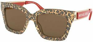 Michael Kors MK2102 399773 Brown Leopard Berkshires Square Sunglasses Lens Cate