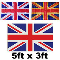 LARGE 5X3FT UNION JACK FLAG RED WHITE BLUE GREAT BRITAIN BRITISH VE DAY