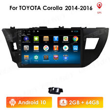"10.1"" Android10 Car GPS Radio Stereo Navi Wifi For Toyota Corolla 2014 2015 2016"