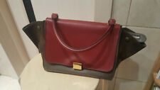 Authentic Beautiful Celine Trapeze Small Tri-Color Leather Suede Purse Bag