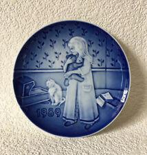 "Bing & Grondahl B&G Copenhagen Childrens Day 1989 ""Bedtime� Collector Plate"