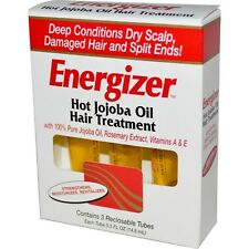 Hobe Labs, Energizer, Hot Jojoba Oil Hair Treatment, 3 Reclosable Tubes, 14.8ml