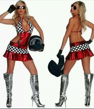 Woman's ladies red racing girl outfit Halloween costume role play