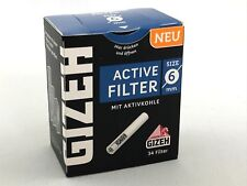 Gizeh Active Filter Slim 1x34er Ø 6 mm - 34 Stk Aktivkohle - Joint Tips -