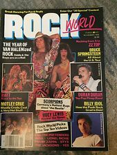 Rock World Magazine 1984 Van Halen Ratt Billy Idol Scorpions ZZ Top Glam NM