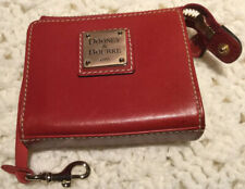 Dooney & Bourke Red Leather Id Card/Coin Purse