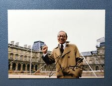 signed Ieoh Ming Pei autographed photo 5*7 limited Chinese American Architect