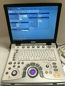 GE Vivid E PORTABLE ULTRASOUND MACHINE WITH 2 PROBES