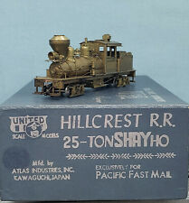 PFM/United - Brass HO Scale - Hillcrest 25 Ton Shay