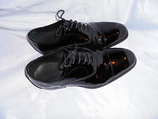 M&S SARTORIAL BLACK PATENT LEATHER  LACE UP OXFORD SHOES SIZE UK 7 EU 41 VGC