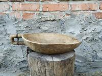 Primitive antique wooden scoop ladle