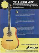 Larrivee Model D-05 Guitar 2000 Players' Choice Award Contest Giveaway 8 x 11 ad