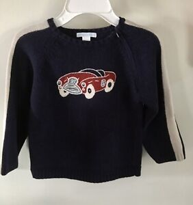 Janie And Jack Racing Team Navy Car Sweater 5t