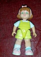 Fisher Price Loving Family Dollhouse Girl Toddler Brown Hair Yellow Short Figure