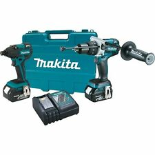 NEW Makita XT257MB LXT Li-Ion 18 Volt hammer Drill & Impact Brushless  Kit 5amps