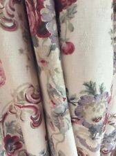 Laura Ashley Vintage Floral pair of curtains plus single curtain and Pelmets.