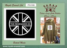 60's style LARGE Mod Cloth Patch Parka Bomber RENEGADES SCOOTER CLUB - CP5.168