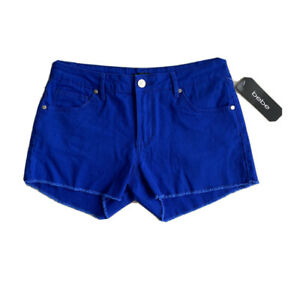 NEW BLUE BEBE WOMAN SHORT Denim SHORTS WITH POCKETS AND LOGO SIZE  29