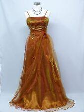 Cherlone Gold Ballgown Wedding/Evening Bridesmaid Formal Full Length Dress 12-14