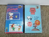 SNOOPY & CHARLIE BROWN~Channel 5 VHS VIDEOS x 2~4 Episodes