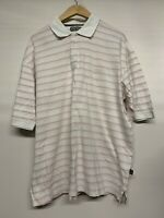 Mens PING Golf Polo Top Short Sleeve Shirt White Size XXL
