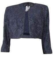 Alex Evenings Women's Textured Glittered Jersey Bolero