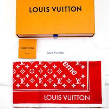 cc0e2b0f Supreme x Louis Vuitton LV Monogram Bandana Scarf Red 100% Authentic Japan  New