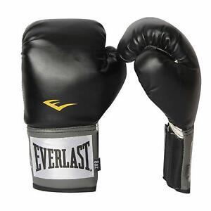 Everlast 8oz Black Pro Style Training Boxing Gloves 8 ounces