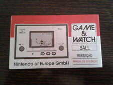 NINTENDO GAME & WATCH BALL REEDITION CLUB NINTENDO PORTUGUESE INSTRUCTION MANUAL