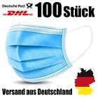 100x Mundschutz Maske 3-Lagig Blau Atemschutzmasken CE Zertifiziert OP Einweg