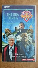 Doctor Who - The Sea Devils - (VHS, 1995, 2-Tape Set, Double Pack) Jon Pertwee