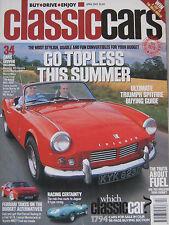 Classic Cars 04/2003 featuring Jaguar, Ferrari, Fiat  X1/9, Toyota MR2, Lancia