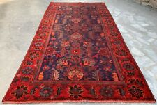 Distressed Hand Knotted Vintage Hamidoun Wool Area Rug 7 x 4 Ft (1090 Hm)