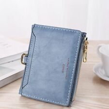 USA Womens Leather Small Mini Wallet Card Holder Zip Coin Purse Clutch Handbag