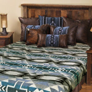 "Extra Large Soft and Warm ALPACA Wool Blanket 75""x90"" Inca Southwestern Design"