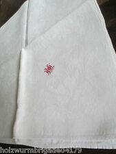schöne alte Tischdecke Tafeltuch Leinen Jugendstil mit tollem Monogramm
