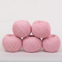 *250g*PURE BRITISH WOOL+SILK* 4-Ply. Pink Rose.yarn.knitting.scottish.tweed