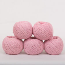 *250g*PURE BRITISH WOOL+SILK* 4-Ply. Pink Rose.yarn.knitting.scottish.tweed