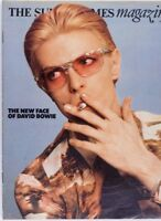 The New Face of DAVID BOWIE by TINA BROWN Fiona Lewis SUNDAY TIMES magazine